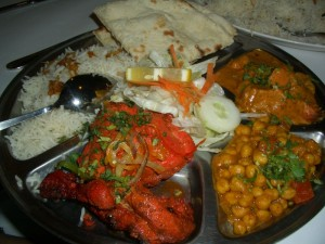 A Thali of Indian Food